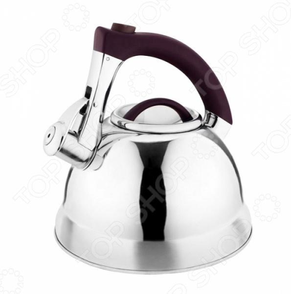 Чайник со свистком LaraCook PolishЧайники со свистком и без свистка<br>Чайник со свистком LaraCook Polish станет отличным дополнением к набору вашей кухонной утвари. Модель выполнена из высококачественной, устойчивой к воздействию коррозии, стали и снабжена эргономичной бакелитовой ручкой. Капсулированное дно способствует быстрому прогреву чайника и равномерному распределения тепла. Благодаря наличию свистка, вы точно не забудете чайник на плите, как только вода закипит, то раздастся характерный свист. Чайник совместим с электрическими, газовыми, стеклокерамическими, галогеновыми и индукционными плитами.<br>