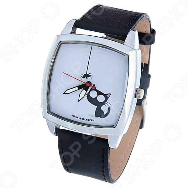 Часы наручные Mitya Veselkov «Кошка и паучок» CH