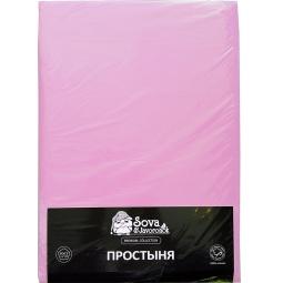 фото Простыня гладкокрашеная Сова и Жаворонок Premium. Цвет: светло-фиолетовый. Размер простыни: 220х240 см