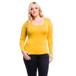 фото Кофта Mondigo XL 436. Цвет: горчичный. Размер одежды: 52