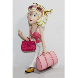 фото Елочное украшение-подвеска Crystal Deco «Дама с сумочкой»
