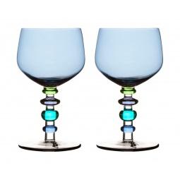 фото Набор бокалов для вина Sagaform Spectra. Цвет: голубой