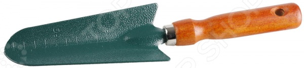 Совок посадочный Grinda 8-421213_z01Совки<br>Совок посадочный Grinda 8-421213 z01 станет отличным дополнением к набору вашего садового инвентаря. Инструмент предназначен для перекапывания почвы, посадки и пересаживания рассады. Совок выполнен из углеродистой стали и покрыт защитной зеленой краской Hammertone. Эргономичная деревянная рукоятка обеспечивает удобный и надежный захват инструмента во время работы. Имеется отверстие для подвешивания.<br>
