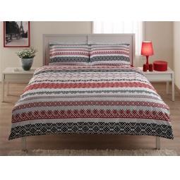 фото Комплект постельного белья TAC Syedra. 1,5-спальный. Цвет: красный