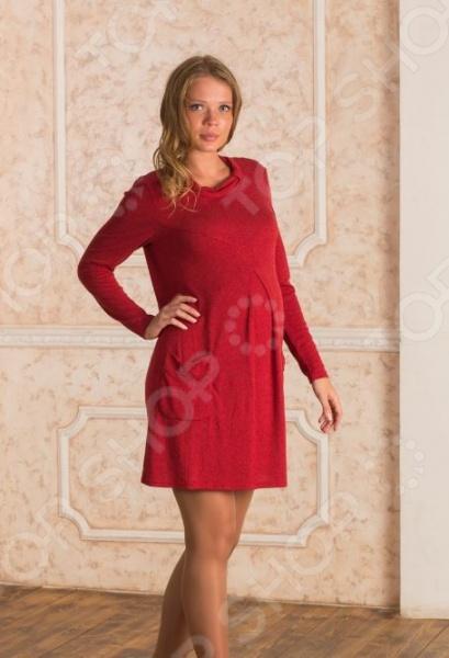 Платье для беременных Nuova Vita 2146.1. Цвет: бордовый платье zean цвет бордовый