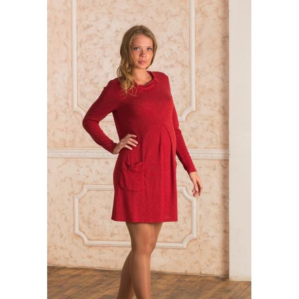 Платье для беременных Nuova Vita 2146.1. Цвет  бордовый купить по ... aa734c5e588