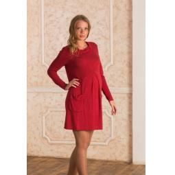 Купить Платье для беременных Nuova Vita 2146.1. Цвет: бордовый