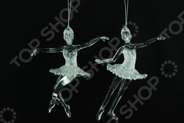 Елочное украшение со светодиодами Елочное украшение Crystal Deco «Балерина». В ассортименте