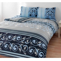 фото Комплект постельного белья TAC Julien. 1,5-спальный. Цвет: голубой