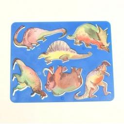фото Трафарет пластиковый Луч «Динозавры». В ассортименте