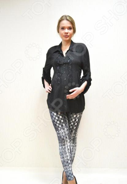 Леггинсы для беременных Nuova Vita 5204.01. Цвет: серый, черный футболка для беременных nuova vita 1226 01 цвет чёрный