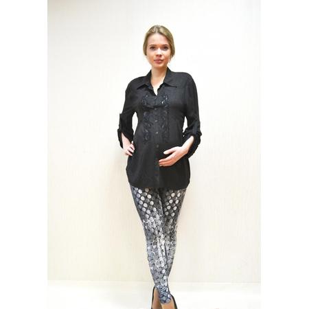Купить Леггинсы для беременных Nuova Vita 5204.01. Цвет: серый, черный