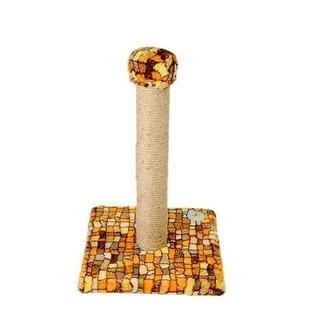 Купить Когтеточка-столб ЗООНИК на подставке с мехом. В ассортименте