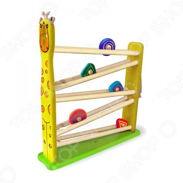 фото Игрушка развивающая деревянная Im toy «Голодный жираф», Деревянные игрушки для малышей