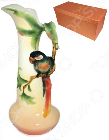 Ваза Elan Gallery «Попугай» вазы elan gallery ваза павлин в райском саду