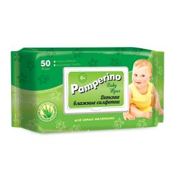 фото Влажные салфетки для детей Pamperino №50