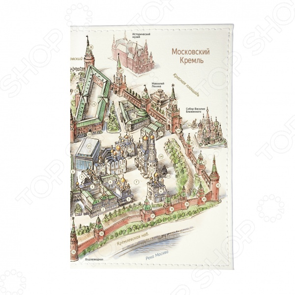 Обложка для паспорта Mitya Veselkov «Московский Кремль»