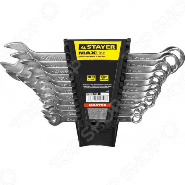 Набор ключей комбинированных Stayer Master 27085-H8 набор ключей комбинированных stayer professional 2 271259 h19