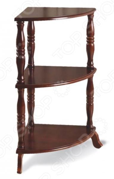 Угловой стеллаж Sheffilton Elk SJ-04 представляет собой декоративный, и в то же время функциональный предмет мебели. Он отлично впишется в интерьер вашей прихожей, гостиной или спальни. Модель выполнена из натурального дерева, покрытого тонировочным лаком; снабжена тремя полочками и изящными резными ножками. Стеллаж отлично подходит для размещения и хранения книг, комнатных растений, сувениров и т.д.