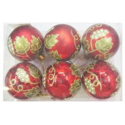 фото Шары новогодние Irit «Рождественские цветы»