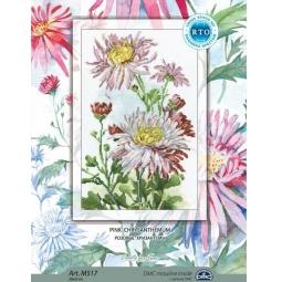 фото Набор для вышивания крестиком RTO «Розовые хризантемы»