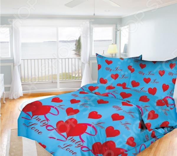 Комплект постельного белья Олеся My love. 1,5-спальный