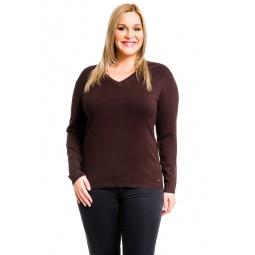 фото Джемпер Mondigo XL 9131. Цвет: коричневый. Размер одежды: 48