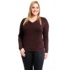 Фото Джемпер Mondigo XL 9131. Цвет: коричневый. Размер одежды: 50