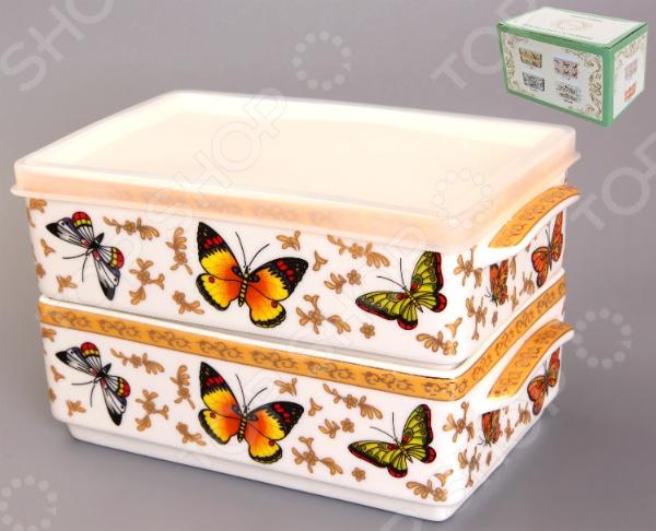 Набор блюд для холодца Elan Gallery «Бабочки»