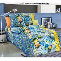 фото Комплект постельного белья Белиссимо «Смартфон». 1,5-спальный