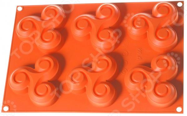 Форма для выпечки Regent Silicone «Крендель»Силиконовые формы для выпечки и запекания<br>Форма для выпечки Regent Silicone Крендель станет прекрасным дополнением к вашим кухонным аксессуарам. Благодаря ей, можно быстро и легко приготовить сладкие кексы или пирожные, которые никого не оставят равнодушным. Материалом изготовления данной формы является силикон. Посуда или кухонная утварь из силикона выгодно отличается от подобных ей аналогов из нержавеющей стали и обладает целым рядом уникальных свойств. Во-первых, она выдерживает температурные перепады. Во-вторых, приготовленное блюдо не будет прилипать, что позволит вытащить кекс или пирог из формы абсолютно целым. В-третьих, силикон не впитывает запахи, а следовательно готовая пища никогда не будет пахнуть предыдущим кулинарным изыском.<br>