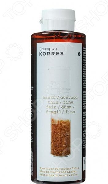 Шампунь Korres «Протеины риса и липа»