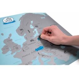 Купить Карта путешественника Scratch Европа