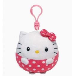 фото Мягкая игрушка с клипсой TY HELLO KITTY BEANIE BALLZ CLIP. Высота: 12,5 см
