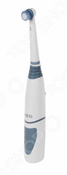 Зубной центр AEG EZ 5500Электрические зубные щетки<br>Щётка AEG EZ 5500 с закруглёнными кончиками нити Tynex DuPont обеспечивает бережную чистку зубов и десен. Быстро осциллирующая насадка, работает в 2-х направлениях , для бережного и эффективного удаления зубного налета. Гибкое основание головки щётки. Сенсорное управление. Нескользящая ручка soft-touch защищенная от брызг воды. Питание: 2 батареи типа AA батарейки в комплект не входят .<br>