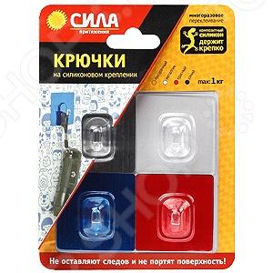 Набор крючков на силиконовом креплении Сила SH5-S4BMIX Boy. В ассортименте