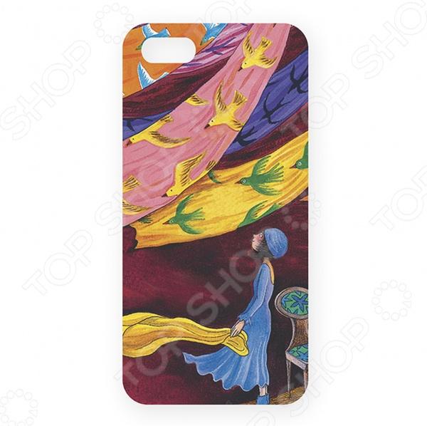 Чехол для iPhone 5 Mitya Veselkov «Платки и птицы-1»