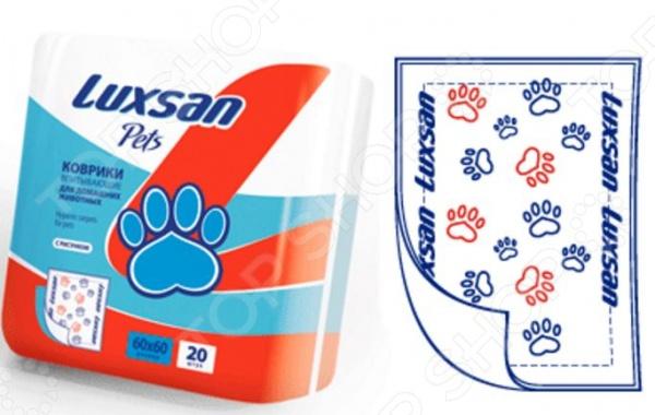 Коврики впитывающие для домашних животных Luxsan Pets с рисунком бандаж для домашних животных andover с латексом и рисунком в ассортименте