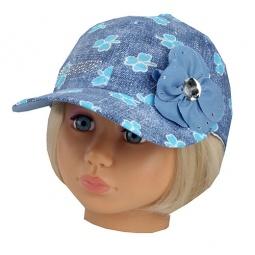 Купить Бейсболка для девочек Shapochka Jeans. Цвет: голубой