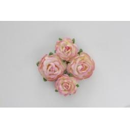 фото Набор украшений ScrapBerry's «Чайная роза». Диаметр: 4 см, 3 см. Цвет: розовый, желтый