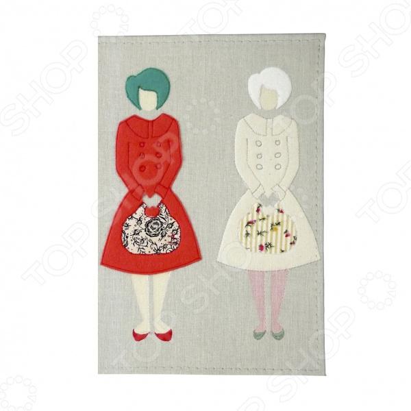 Визитница Mitya Veselkov «Дамы с сумочками» обложка для автодокументов mitya veselkov дамы с сумочками