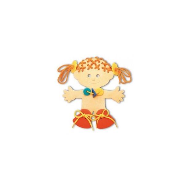 фото Игра развивающая для малыша Флексика «Шнуровка. Девочка»