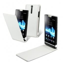 фото Чехол Muvit Slim Flip для Sony Xperia S. Цвет: белый