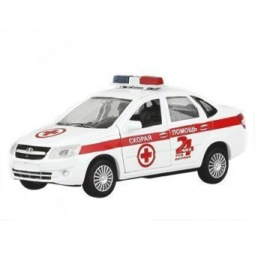 фото Машинка металлическая Autotime LADA GRANTA «Скорая помощь»