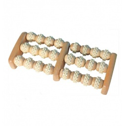 фото Массажер роликовый для ног Банные штучки деревянный