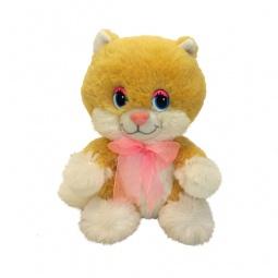 фото Мягкая игрушка интерактивная Maxi Play «Веселый котенок с розовым бантом»