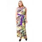 Фото Платье Mondigo 27052. Цвет: салатовый. Размер одежды: 54