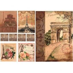 Купить Декупажная карта Karalliki «Воспоминания о Франции