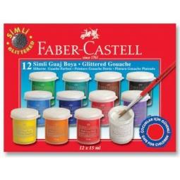 Купить Гуашь с блестками Faber-Castell 160404
