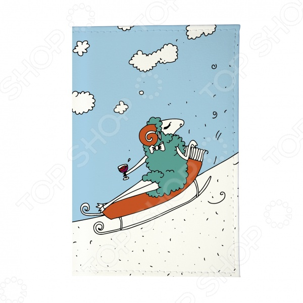 Обложка для паспорта Mitya Veselkov «Овечка на саночках» цена и фото